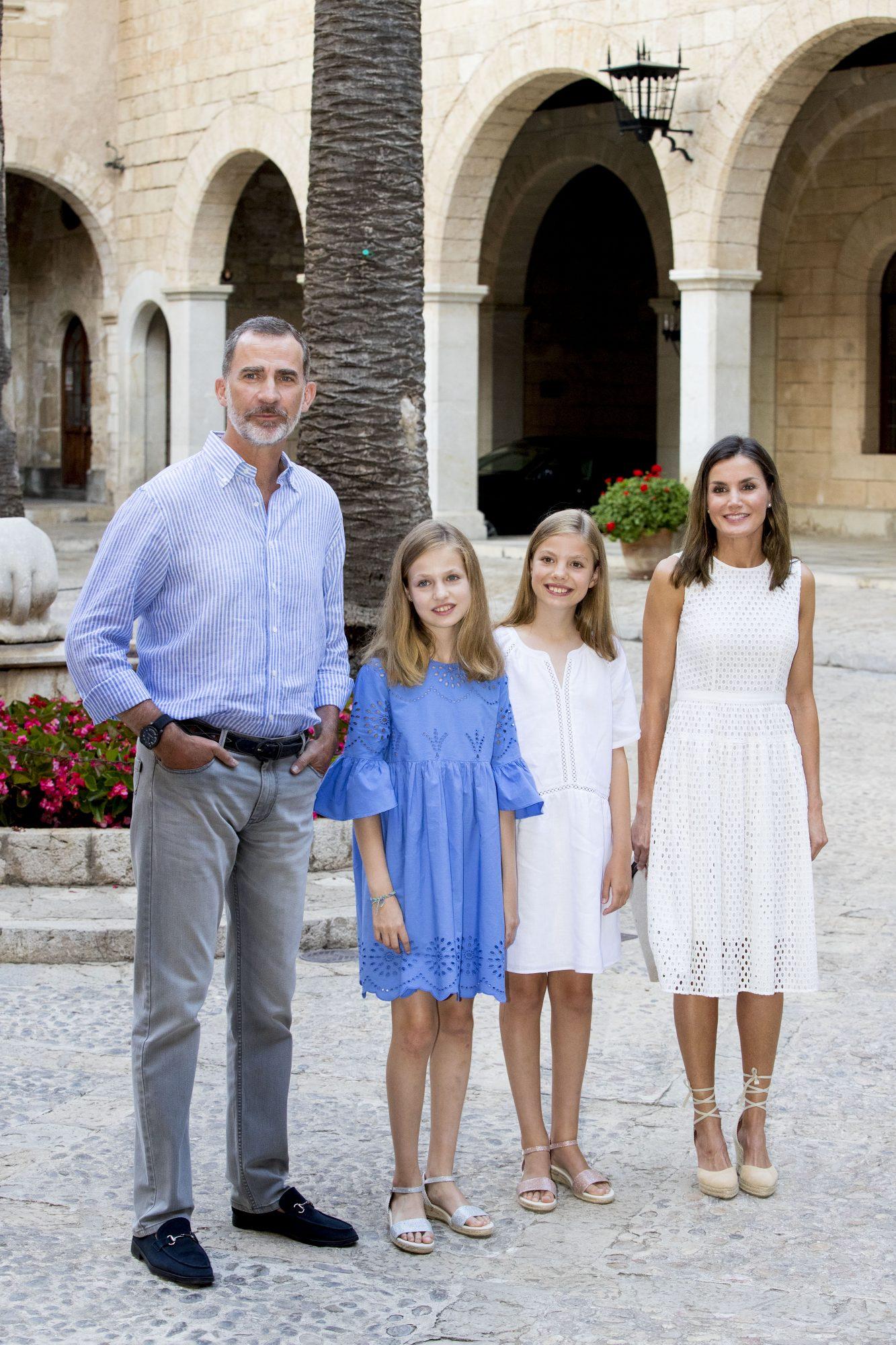 La familia real española, reina Letizia,