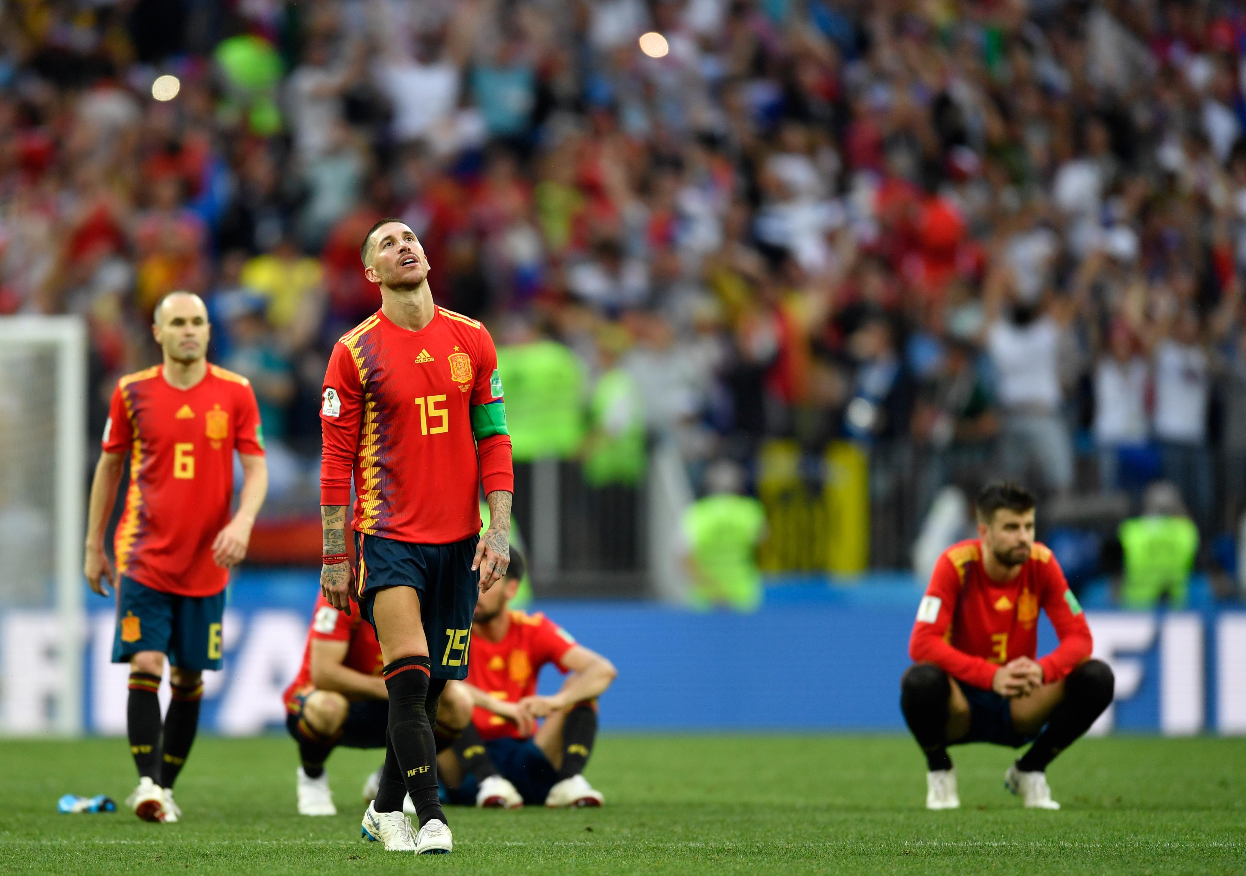 Eliminación de España en el Mundial de Rusia