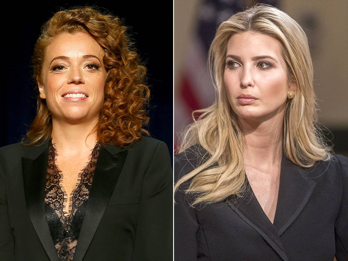 Michelle Wolf (left) and Ivanka Trump