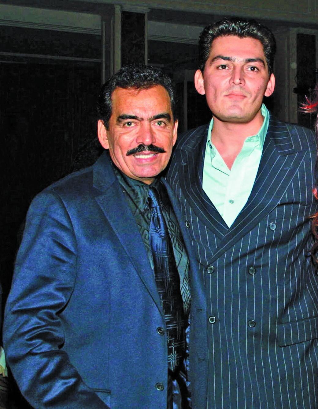 Joan Sebastian y su hijo Jose Manuel Figueroa