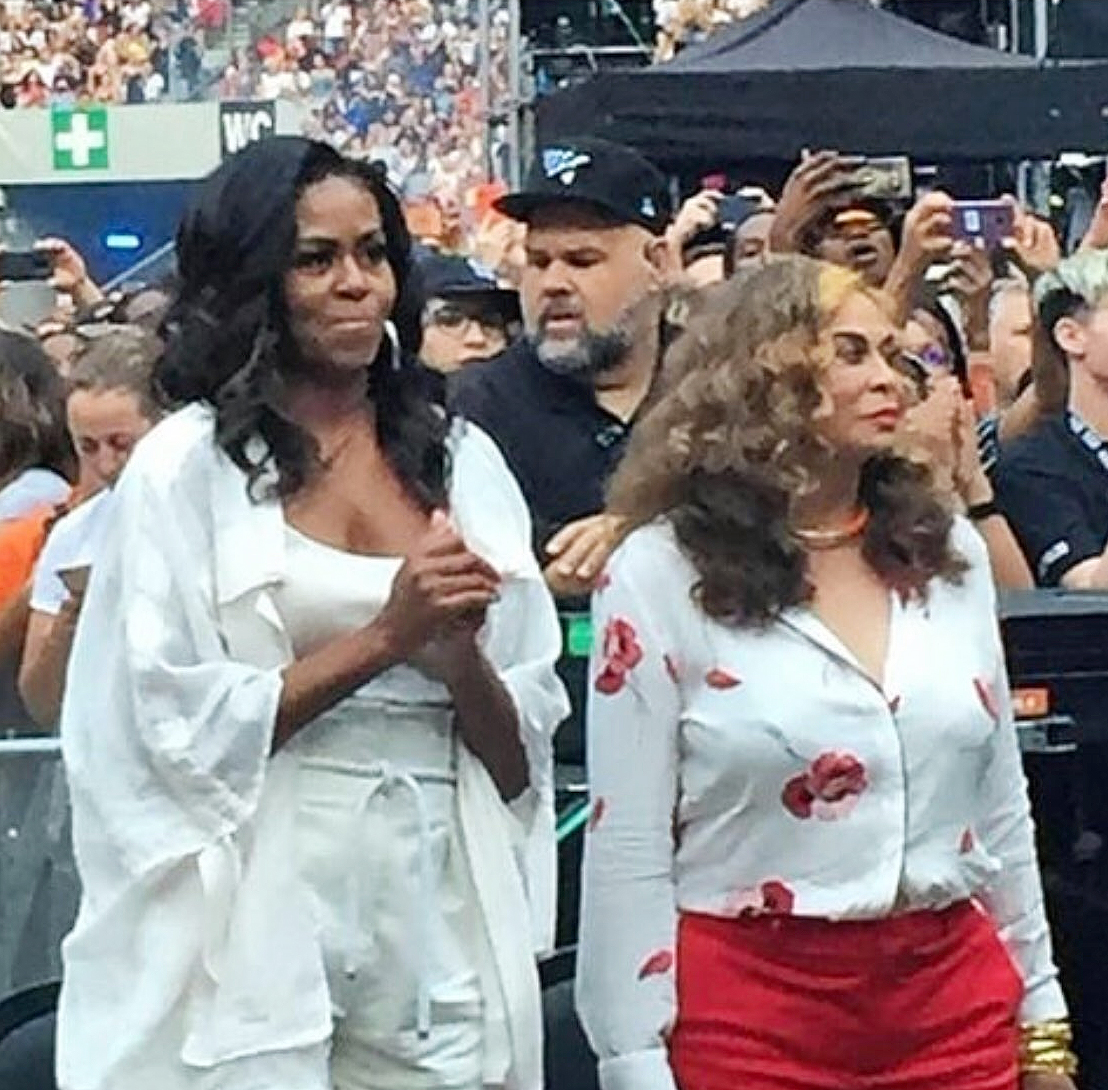Michelle Obama y Tina Knowles