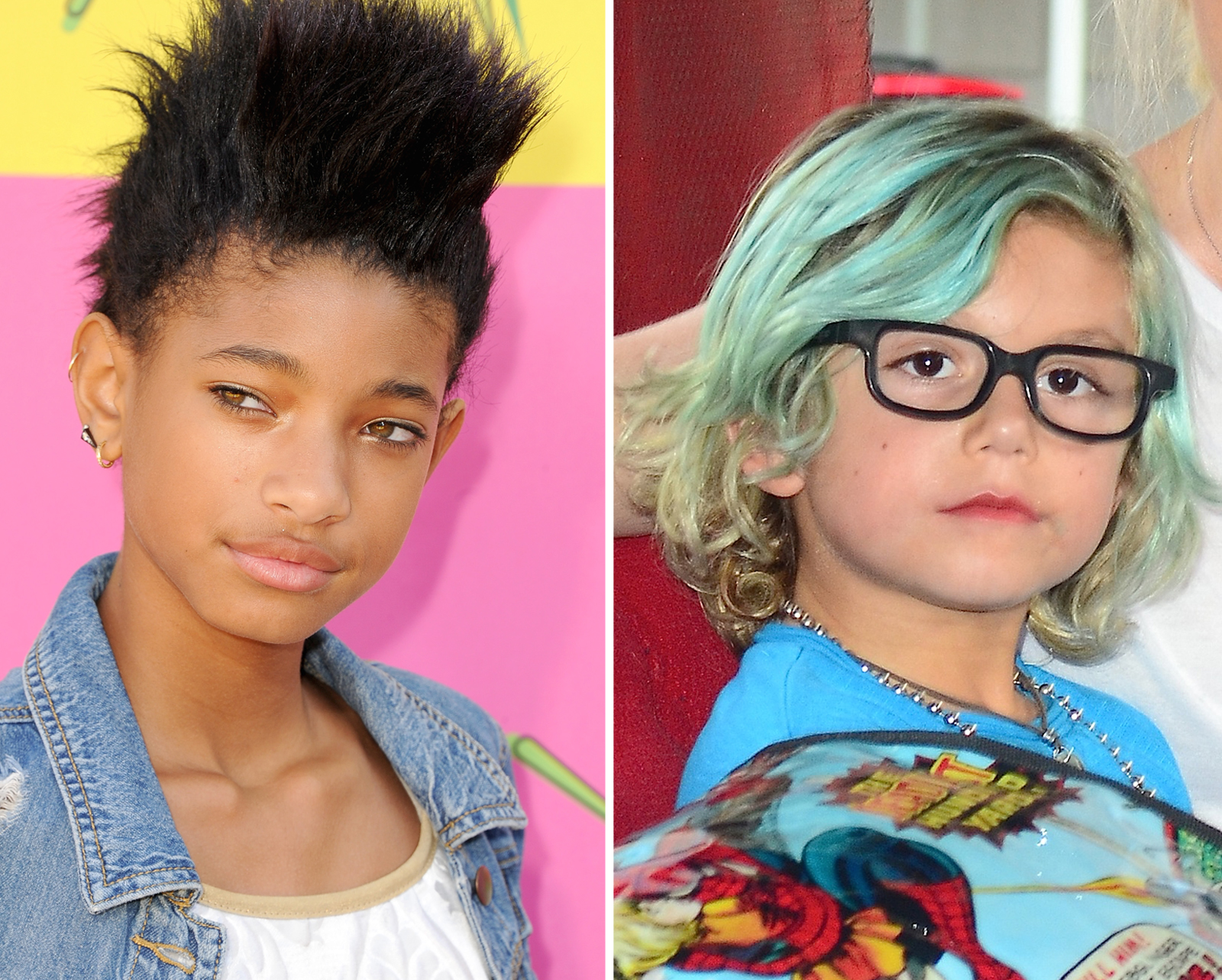 Willow Smith y Kingston Rossdale peinados niños famosos