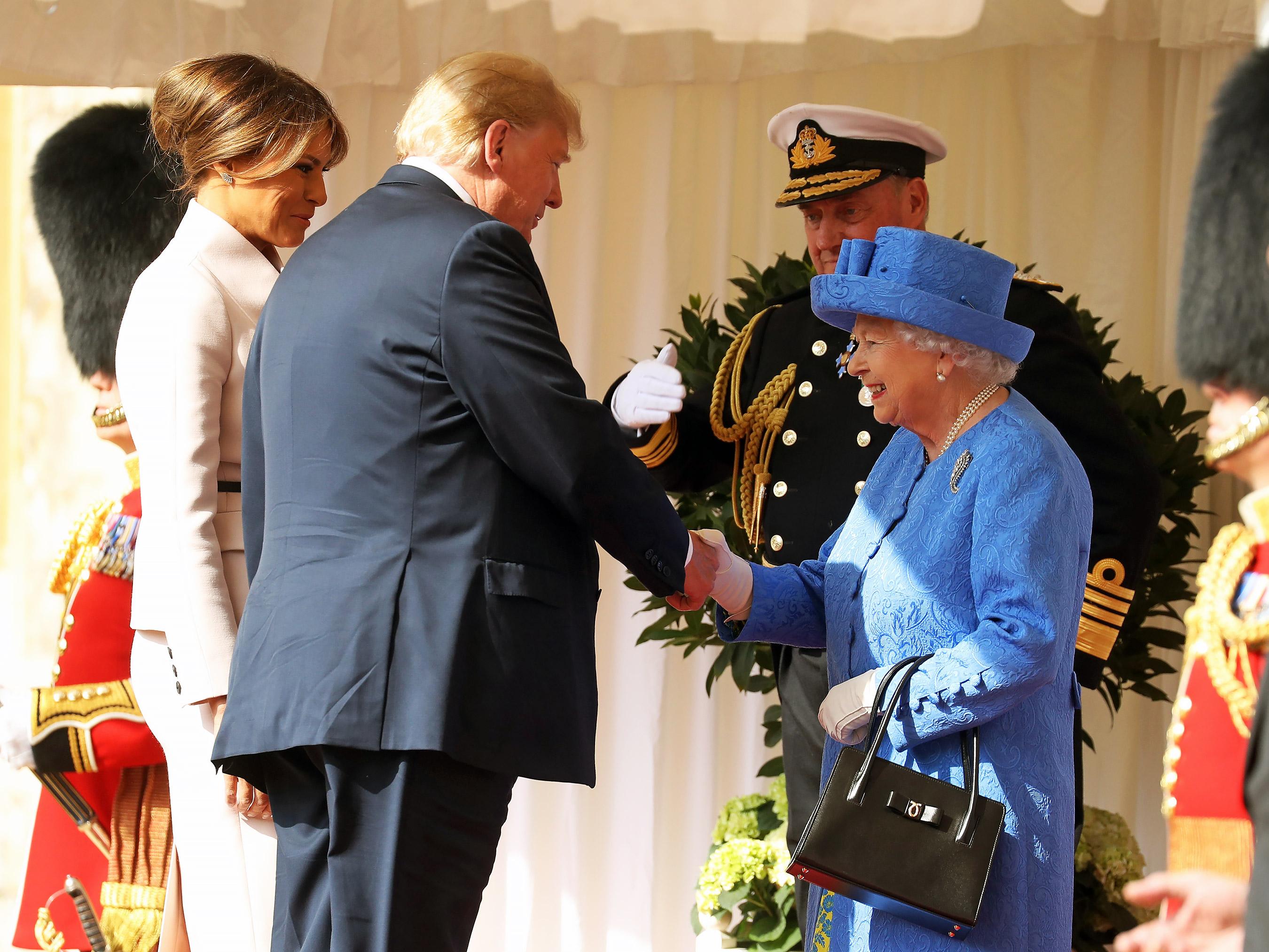 Donald Trump, Reina Isabel II
