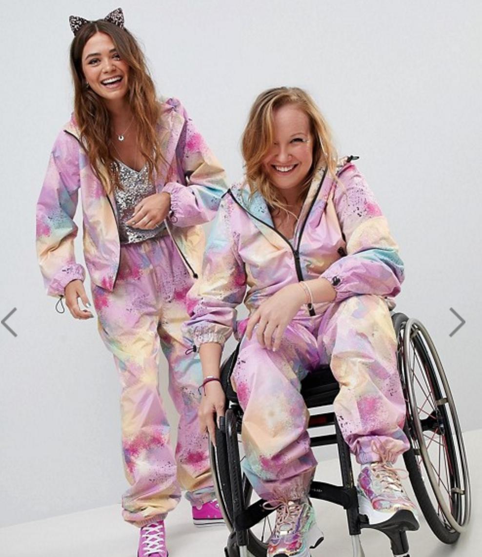Asos, set, jumpsuit, silla de ruedas, chloe ball hopkins