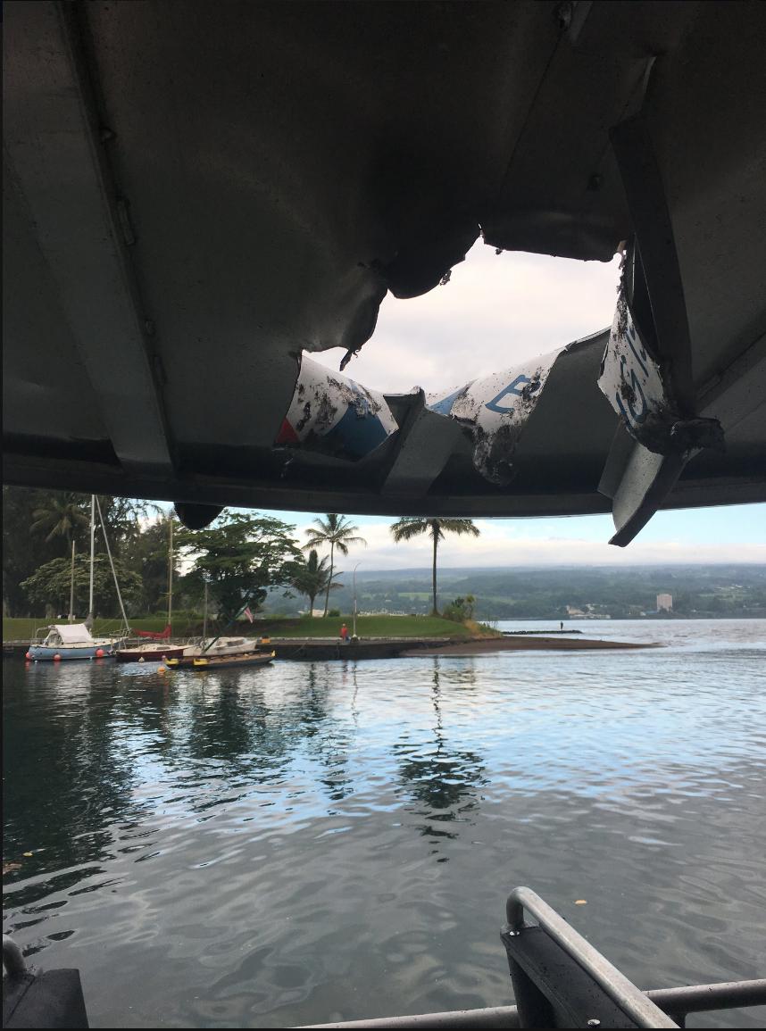 Bomba de lava hiere a 23 turistas
