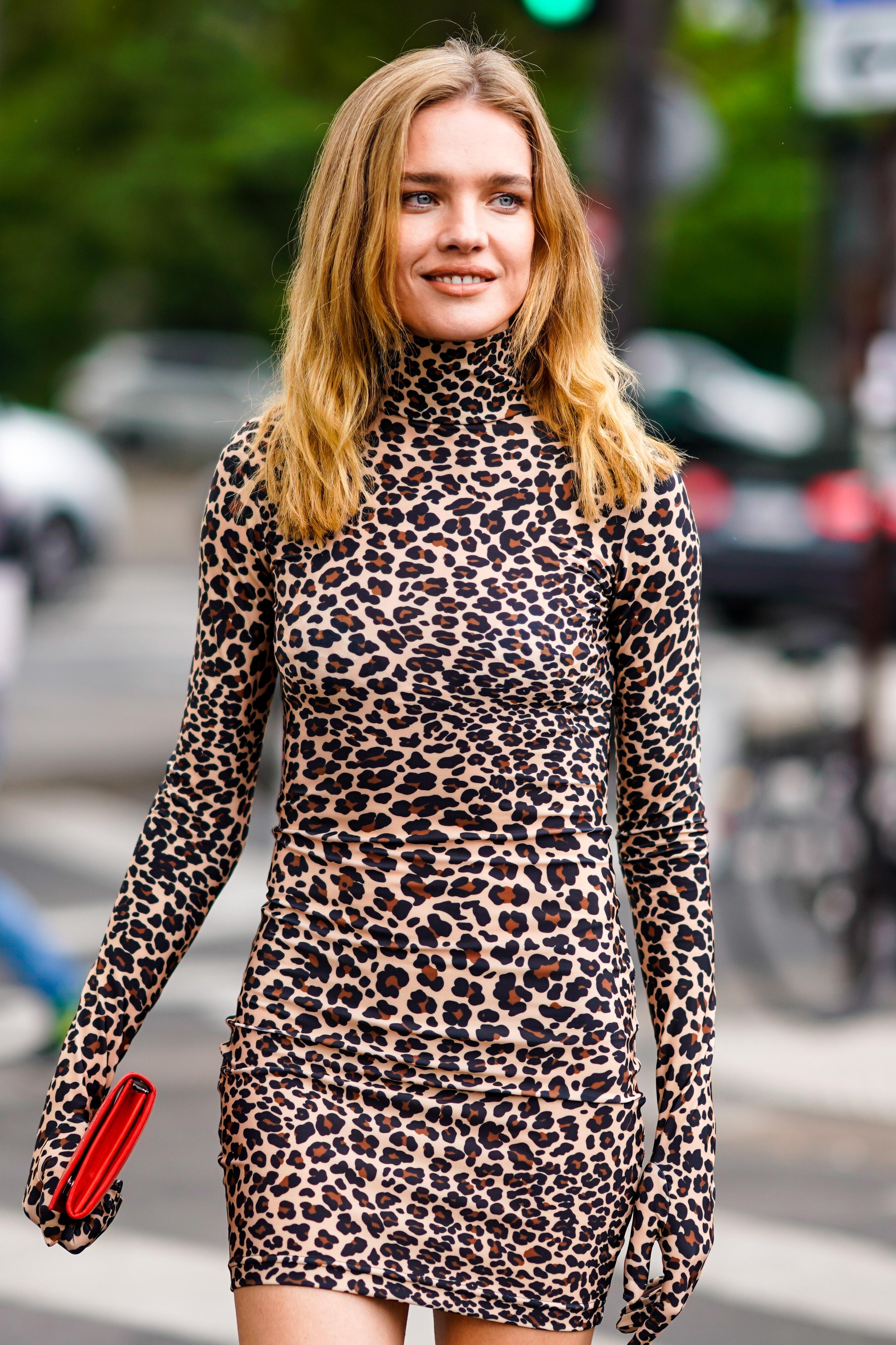 natalia vodianova, leopardo