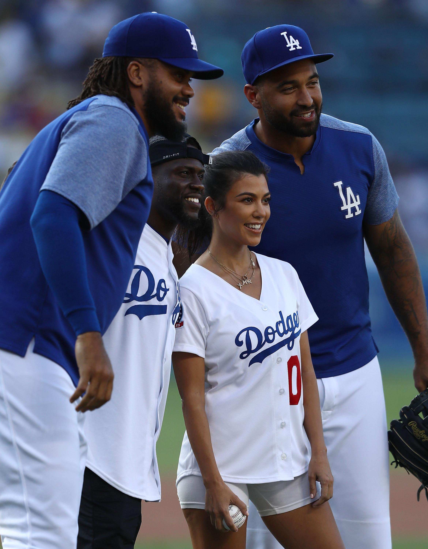 Kenley Jansen Los Angeles Dodgers, Kevin Hart, Kourtney Kardashian Matt Kemp