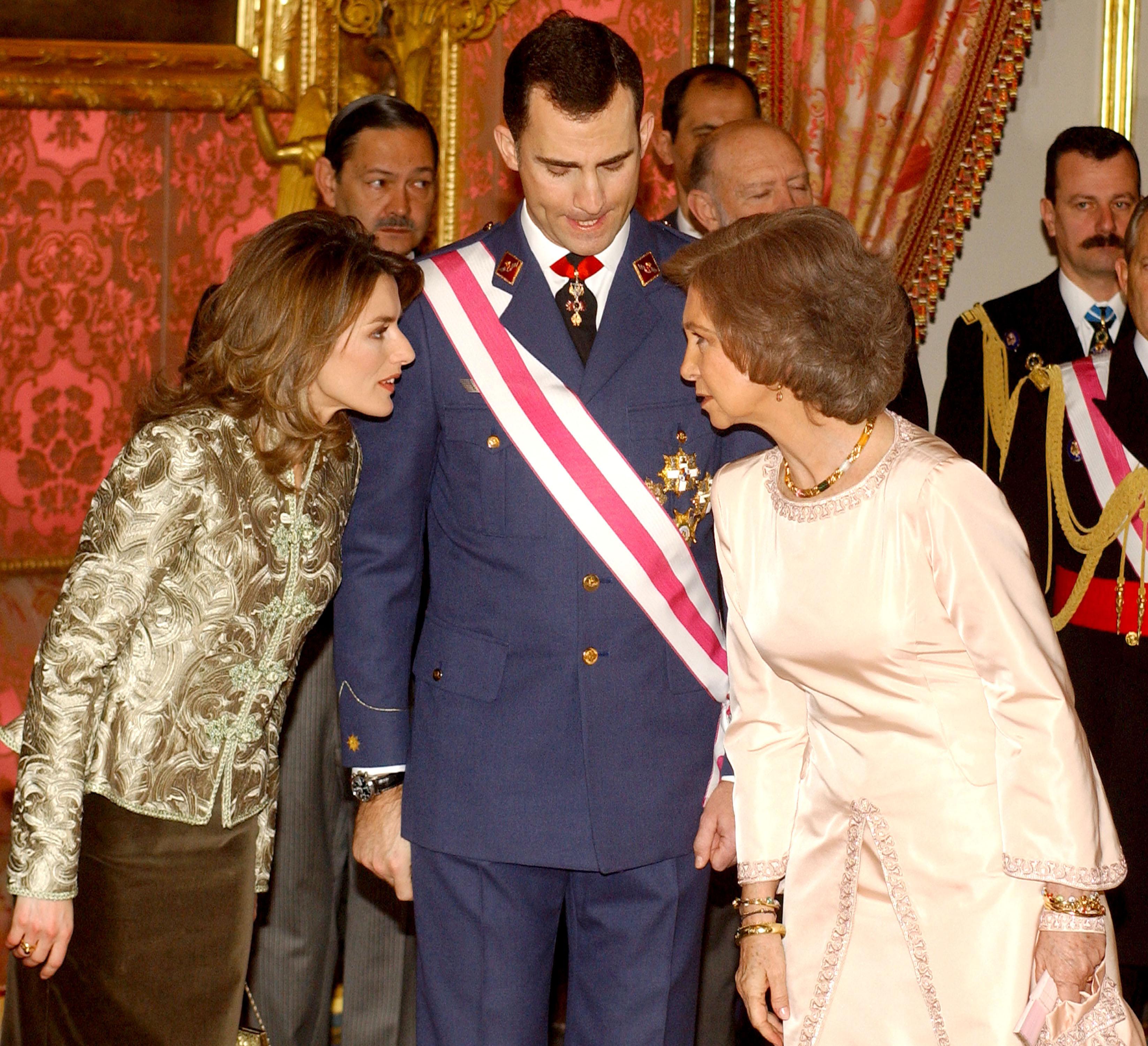 La reina Letizia y la reina Sofía
