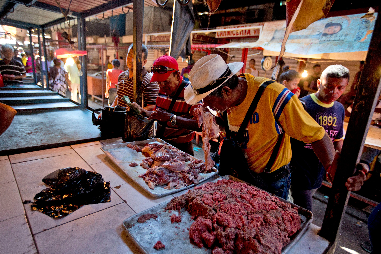 Carne dañada en Maracaibo, Venezuela