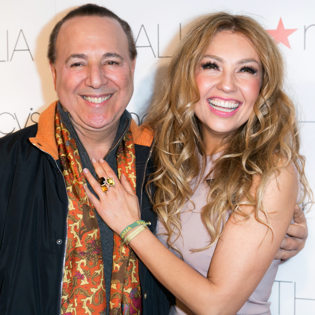 Thalía y Tommy Mottola