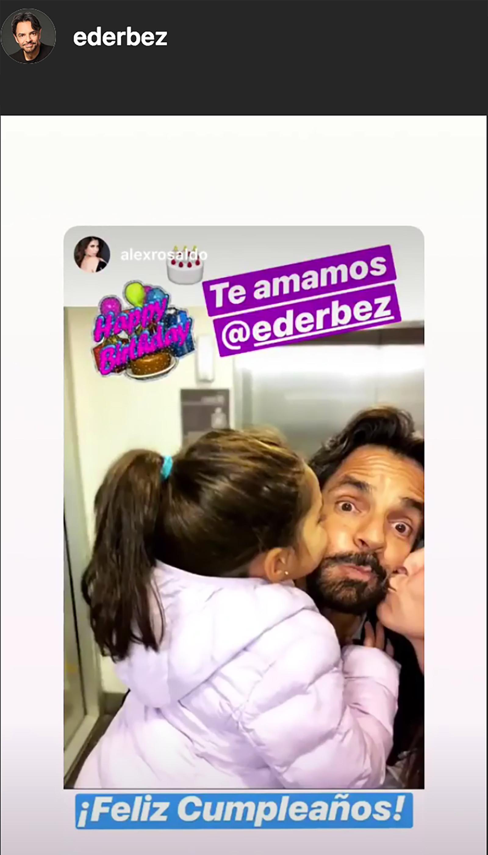 Alessandra Rosaldo, Aitana Derbez, Eugenio Derbez