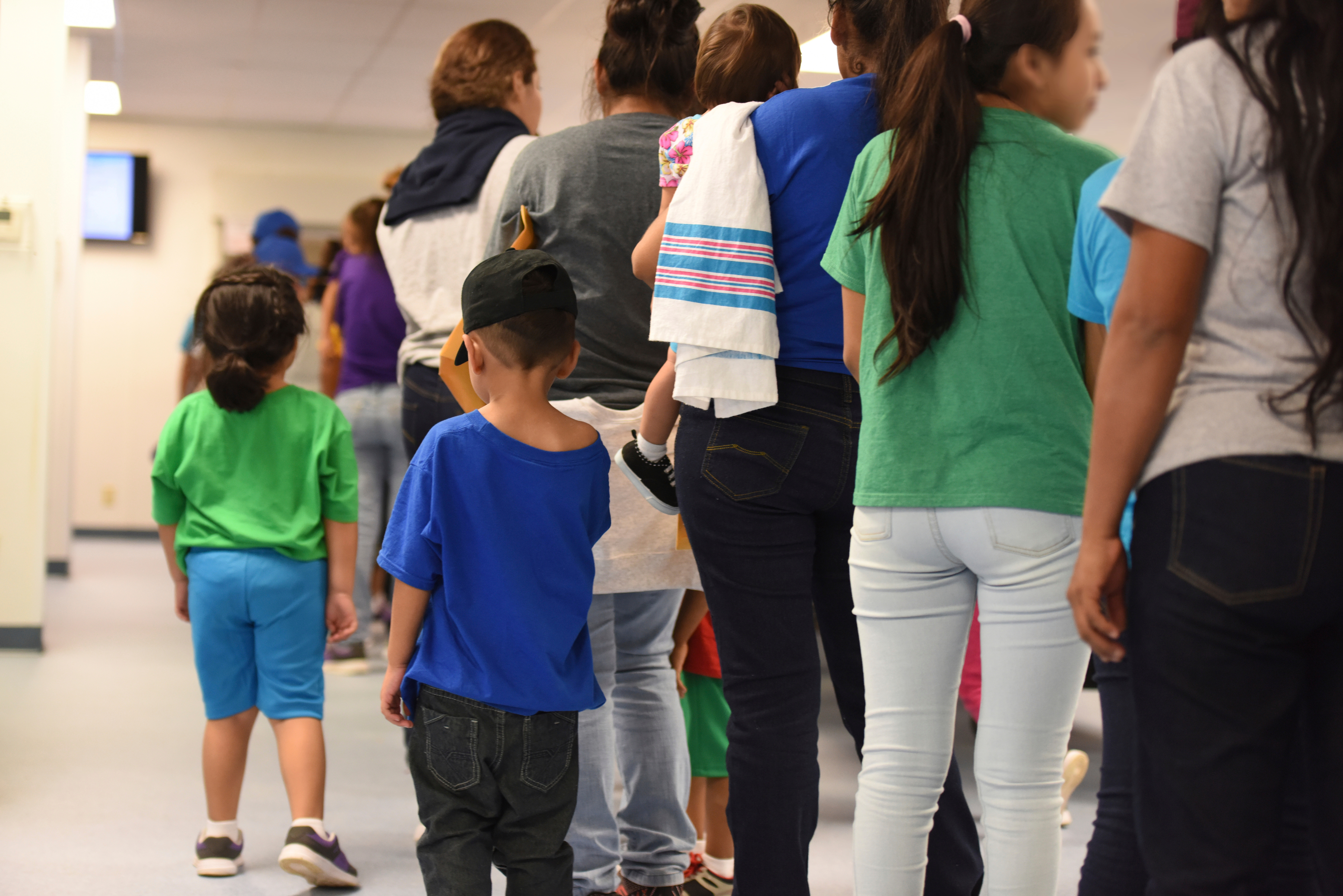 Niños migrantes detenidos en Dilley Texas