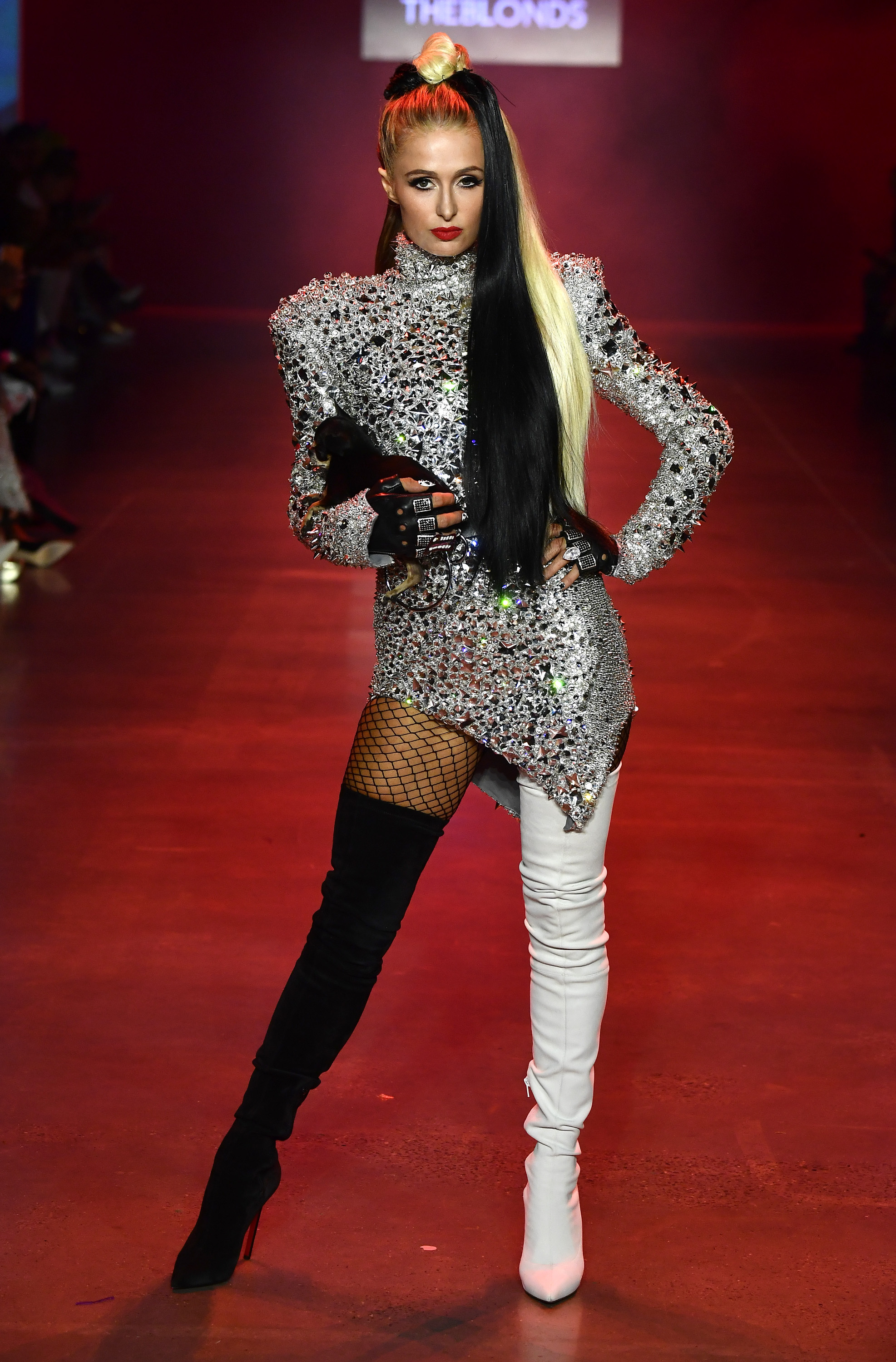 Paris Hilton, nyfw, the blonds