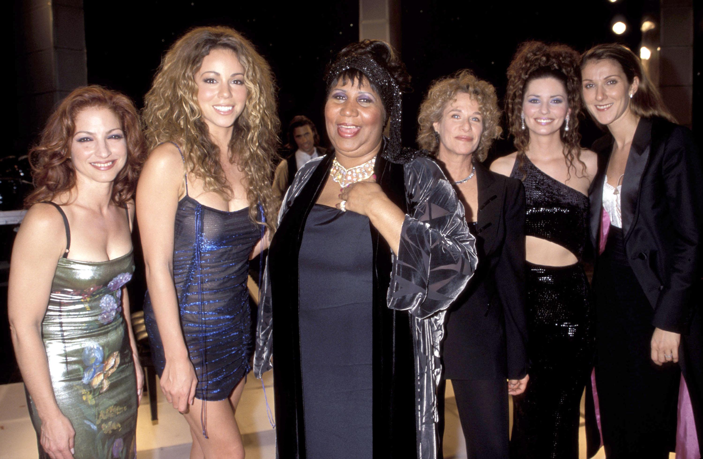 Gloria Estefan, Mariah Carey, Aretha Franklin, Carole King, Shania Twain, Celine Dion