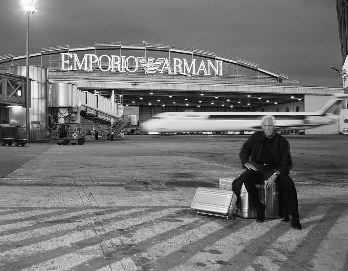 giorgio armani, emporio armani, show, aeropuerto, milan