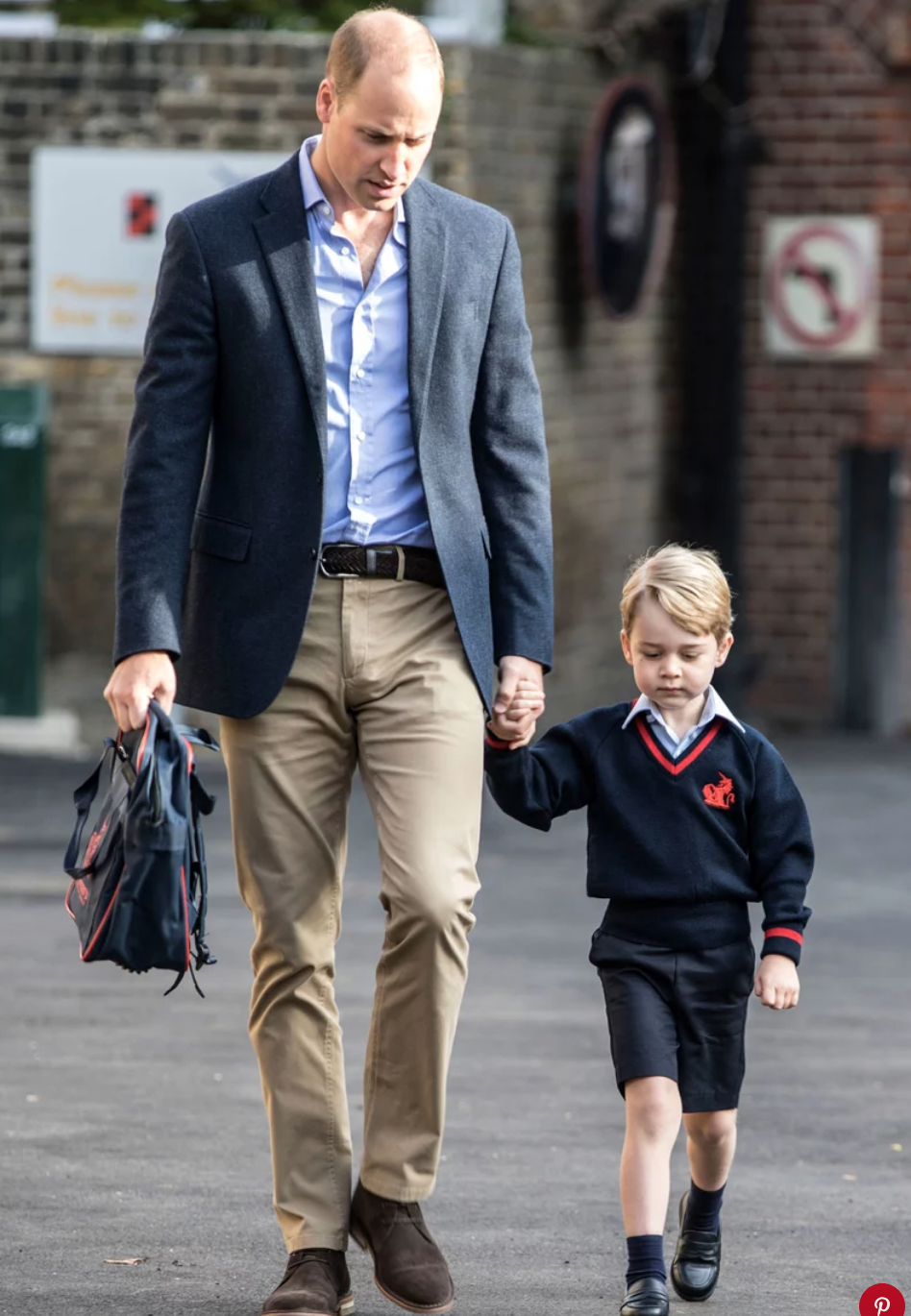 Prince William and Prince George in 2017