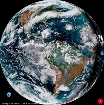 The NOAA's satellite image of Hurricane Florence