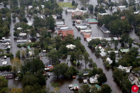 Floodwaters from Hurricane Florence.