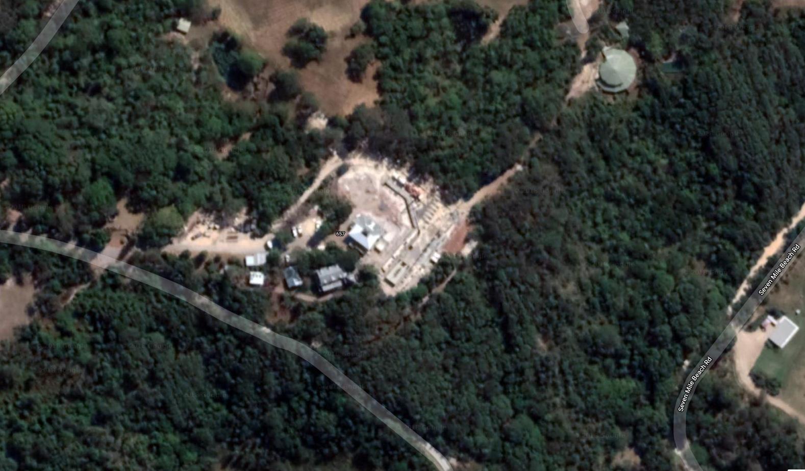 La mansión de Chris Hemswrh y Elsa Pataky vista aérea