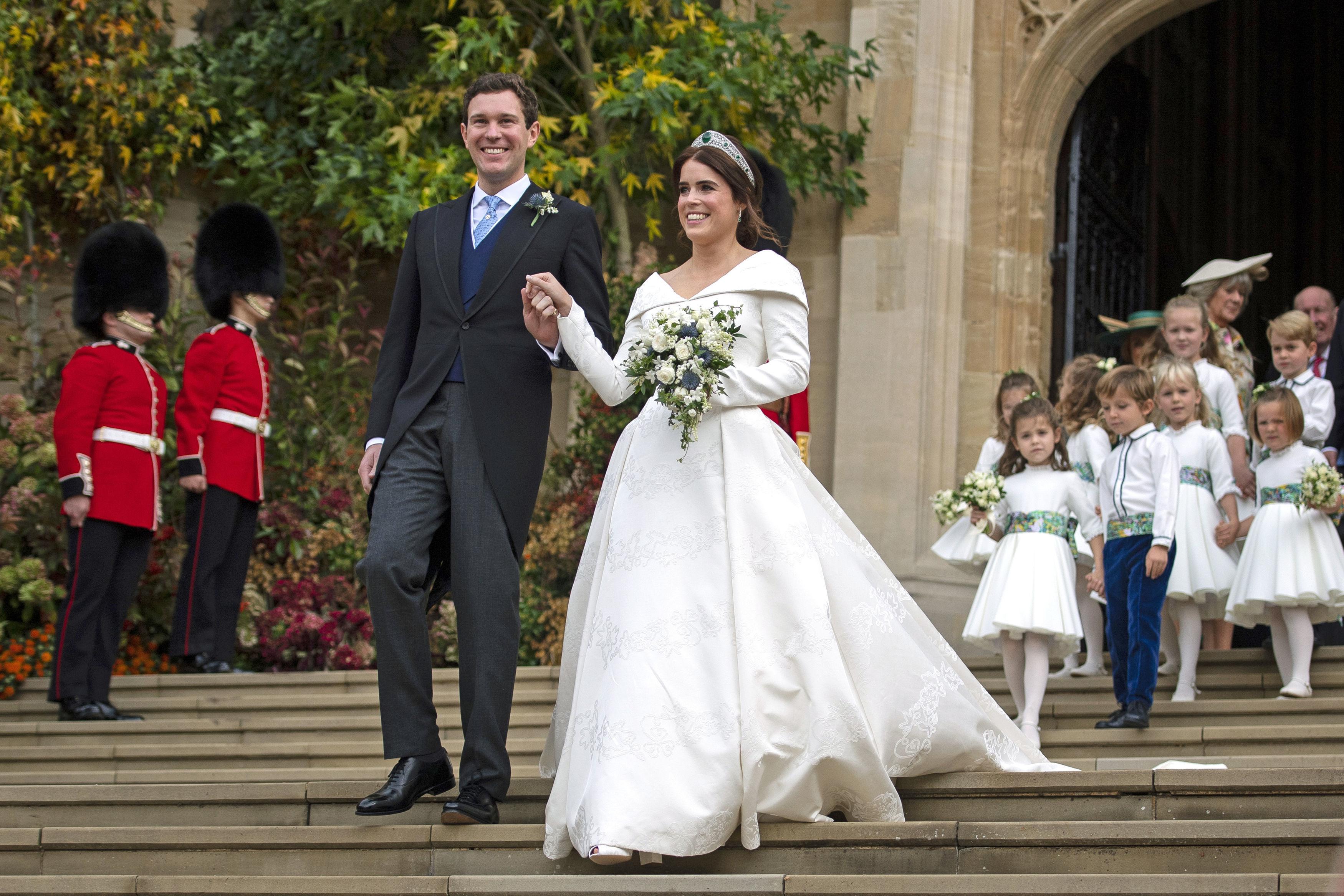 Princesa Eugenie, vestido, novia, boda