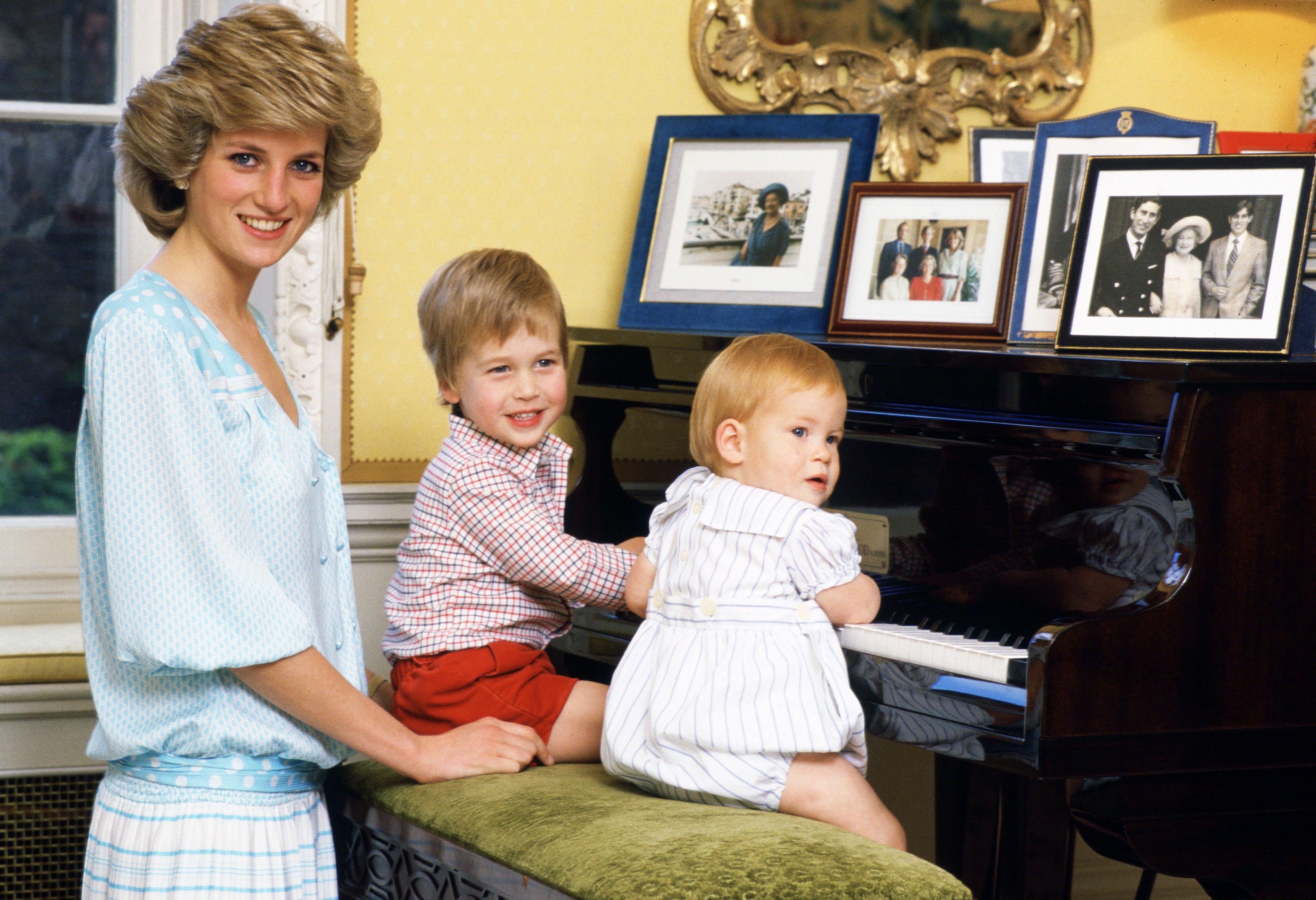 Lady Diana, Príncipe Harry, Príncipe William