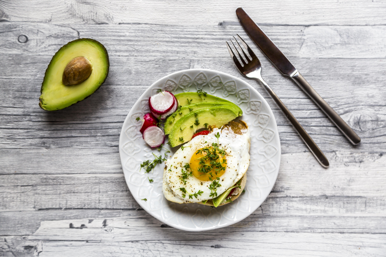 desayuno, comida, huevos, dieta