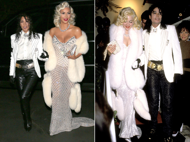 Kourtney y Kim Kardashian: Madonna y Michael Jackson