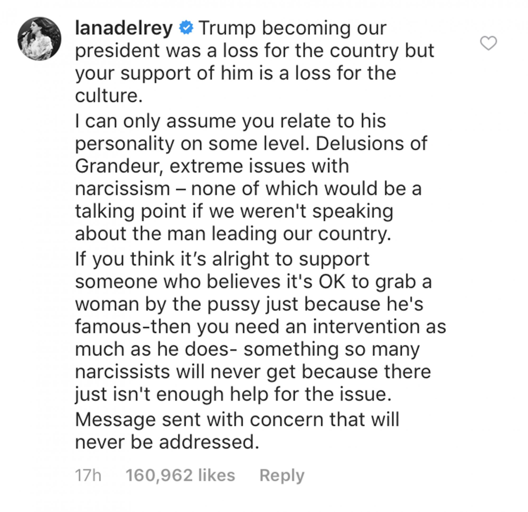 Lana Del Rey/Instagram
