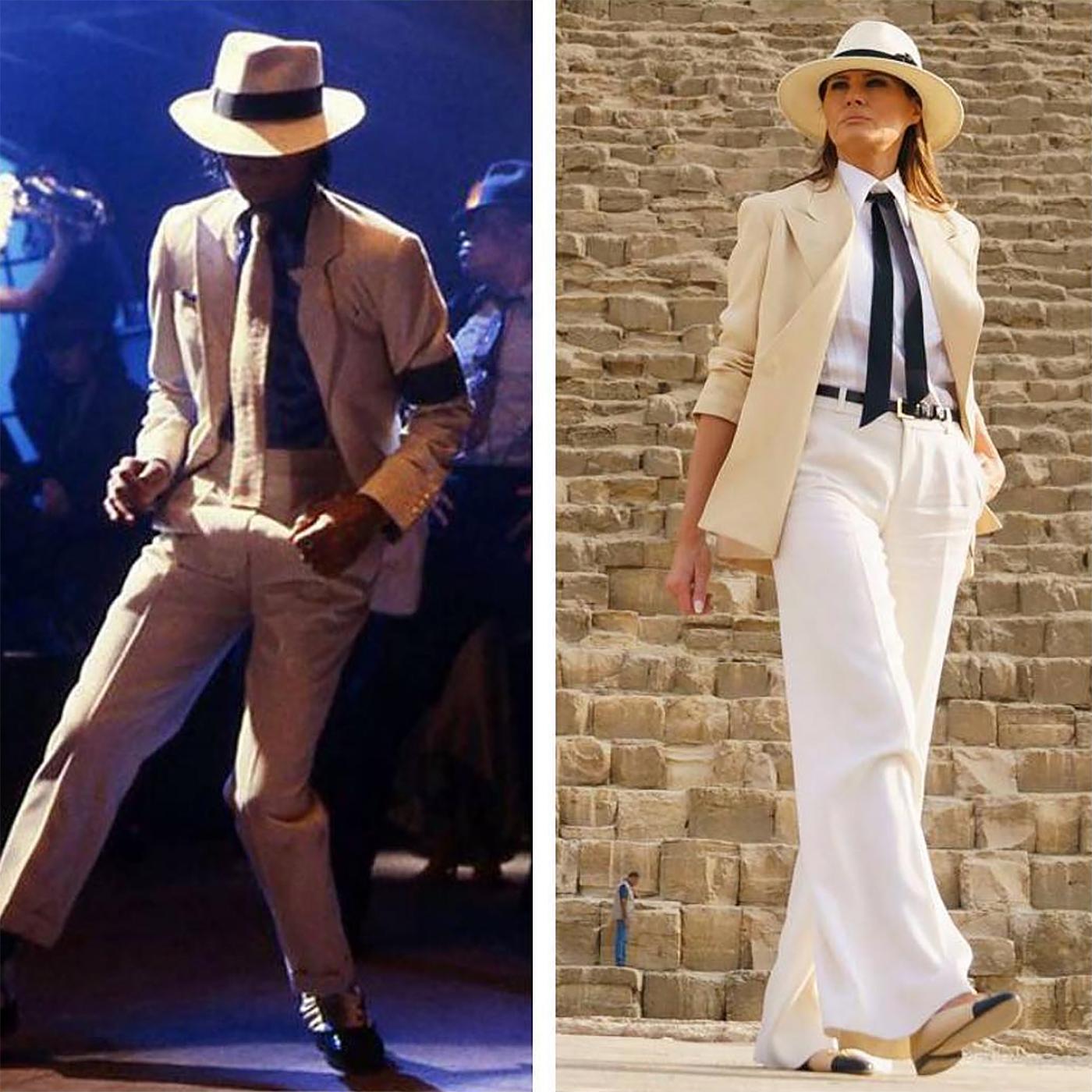 Melania Trump y Michael Jackson