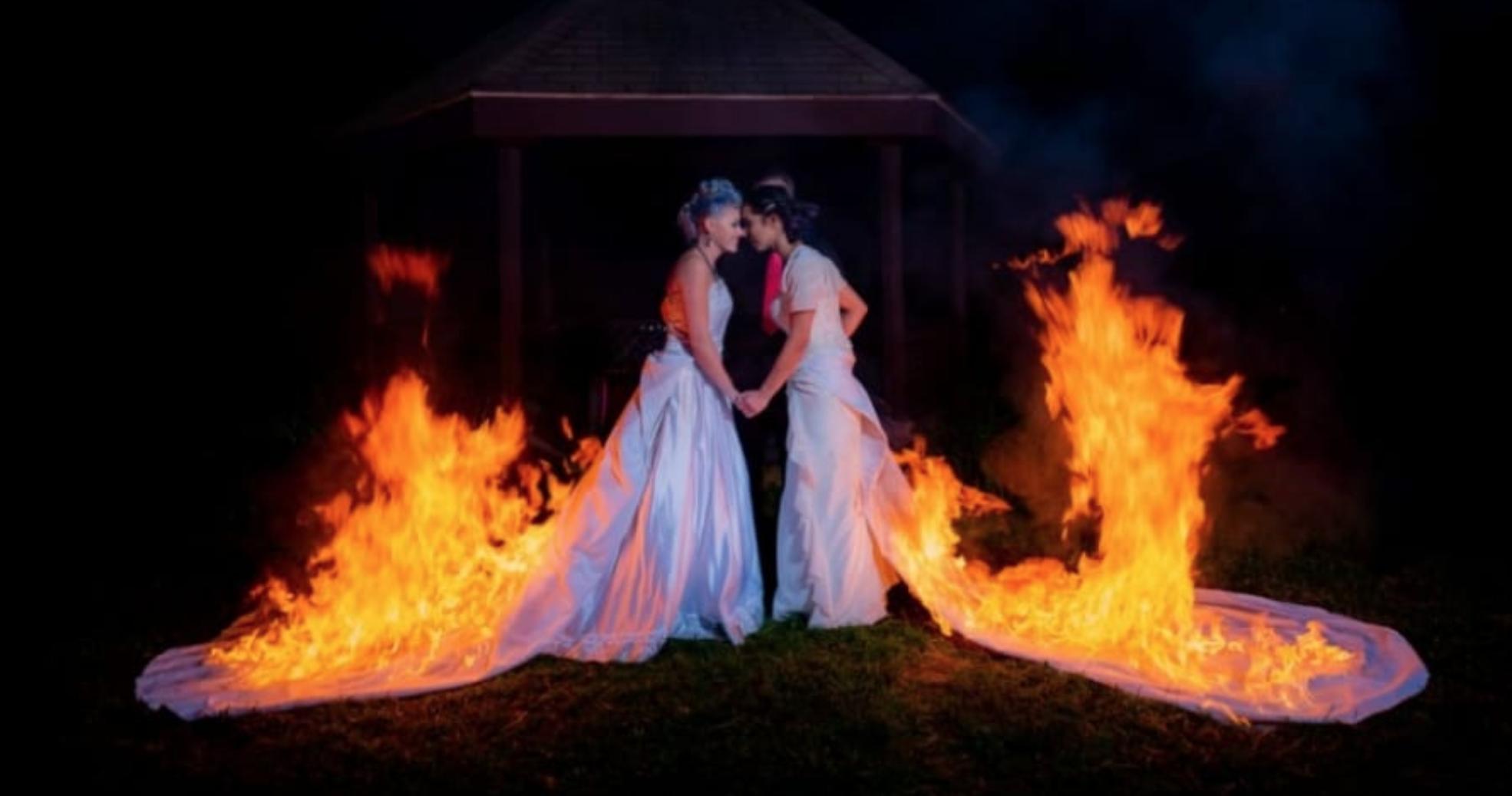 novias en llamas