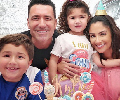 Jorge Bernal y familia