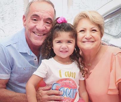 Kylie Rose y padres de Jorge Bernal