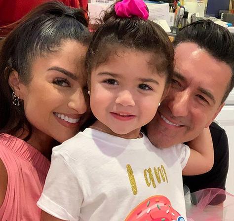 Jorge Bernal y su hija Kylie Rose