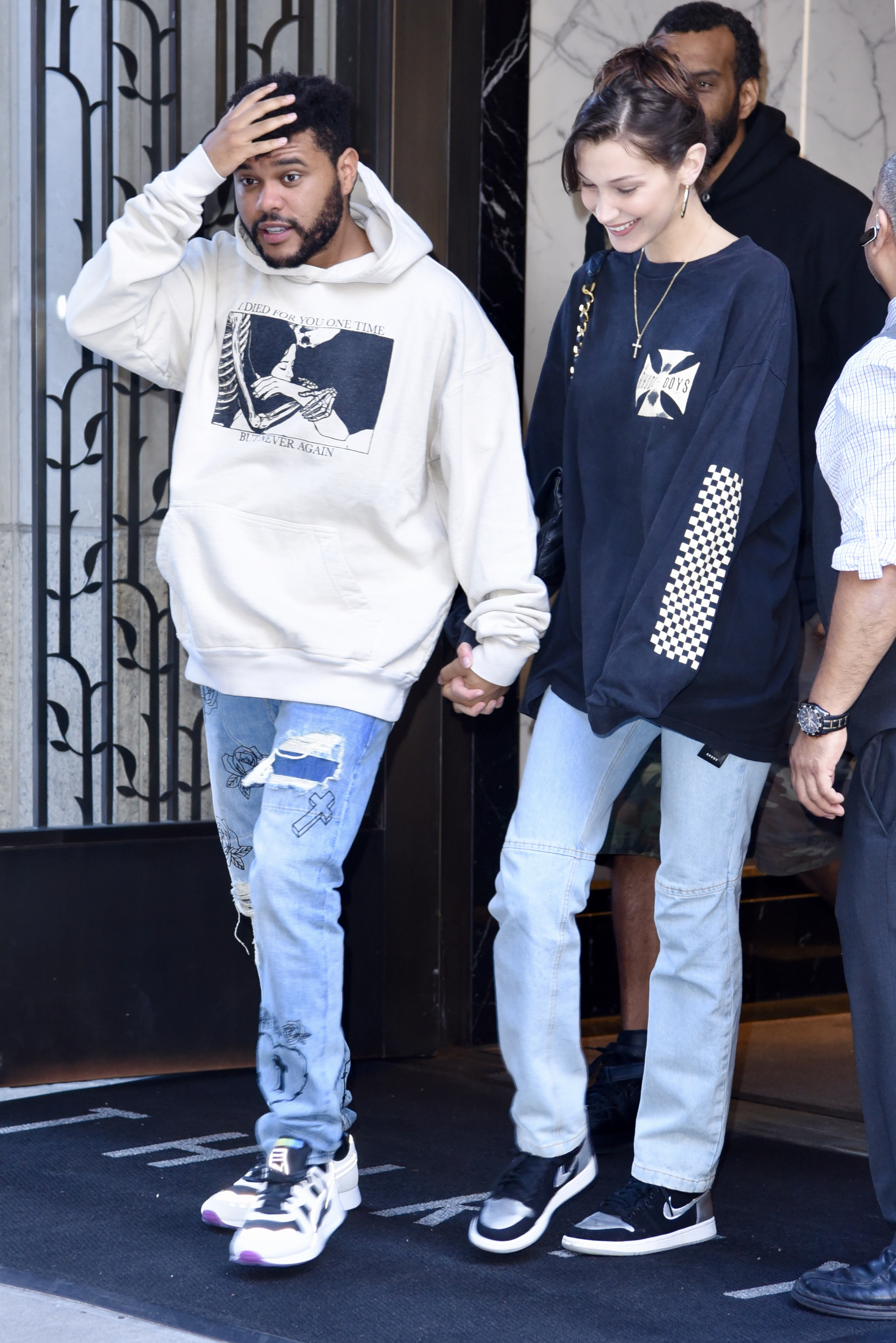 The Weeknd and Bella Hadid out and about, New York, USA - 03 Oct 2018