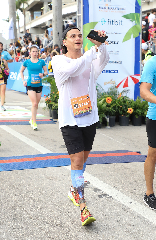 Prince Royce Serves As Grand Marshall For Miami Marathon