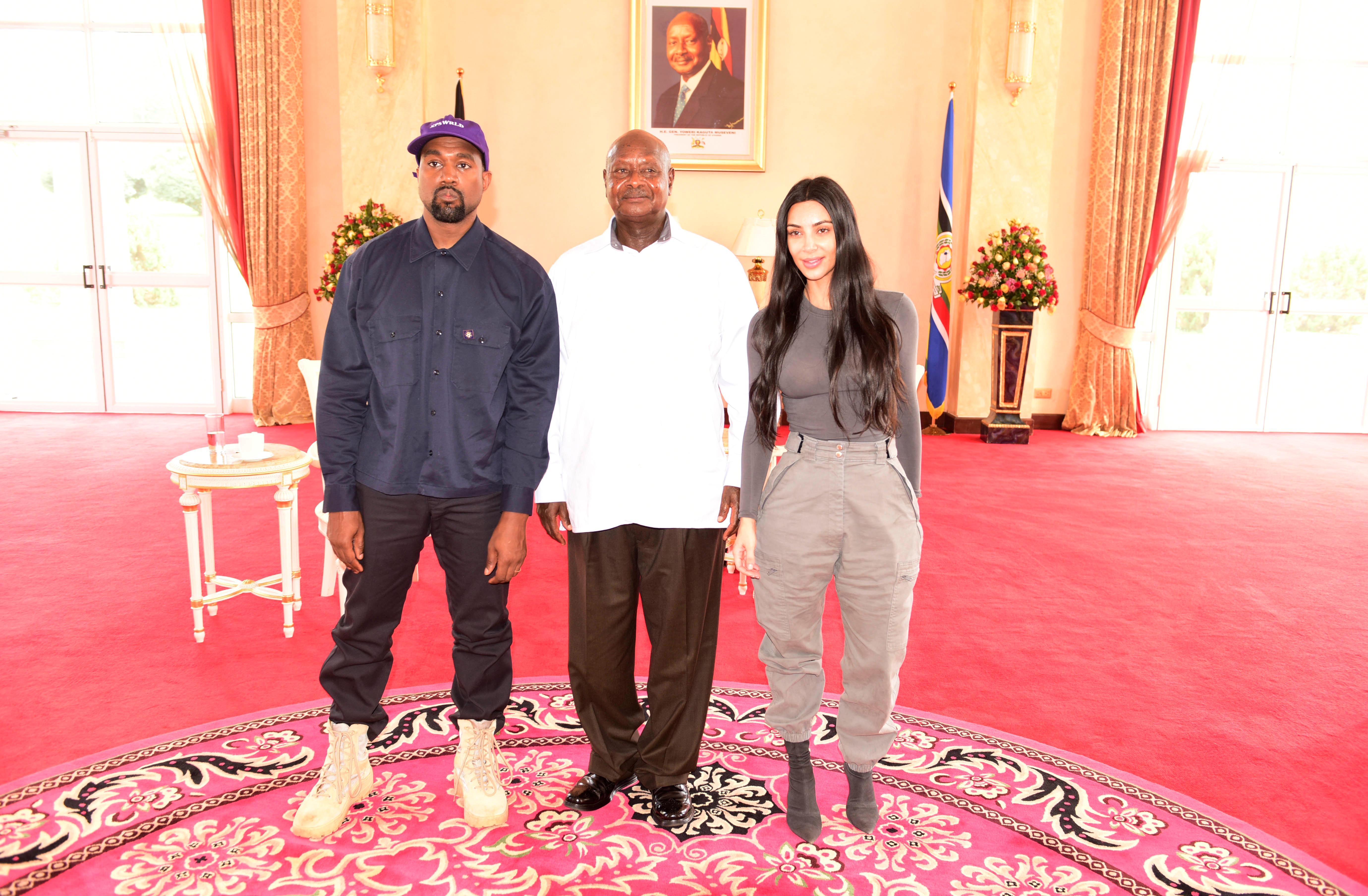 Kanye West, Kim Kardashian, Uganda Yoweri