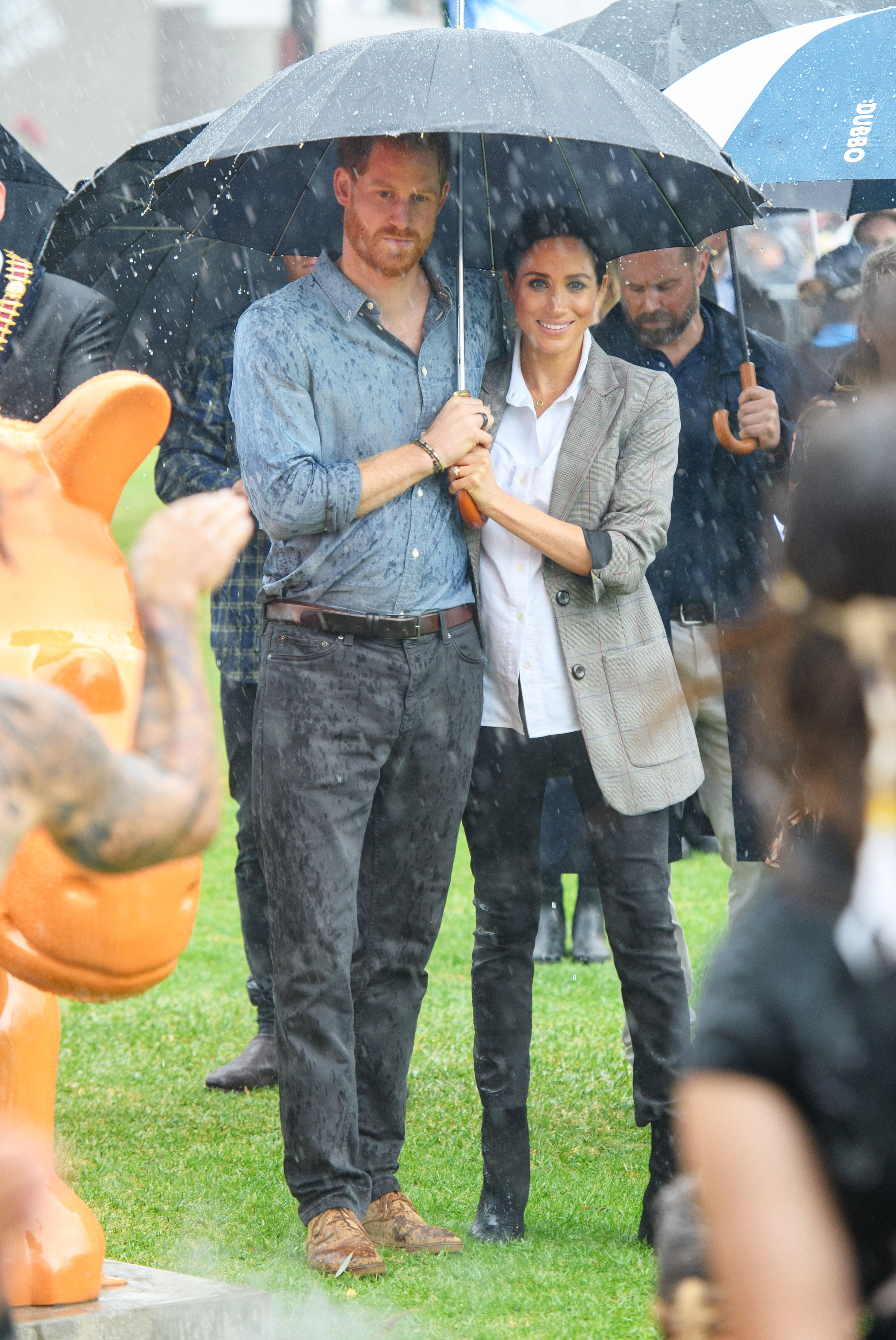 Prince Harry and Meghan Duchess of Sussex tour of Australia - 17 Oct 2018