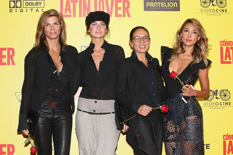 Montserrat Oliver, guest, Yolanda Andrade, Marile Andrade