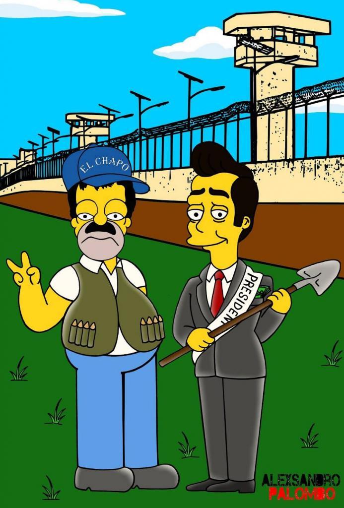 """""""El Chapo"""", Enrique Peña Nieto"""