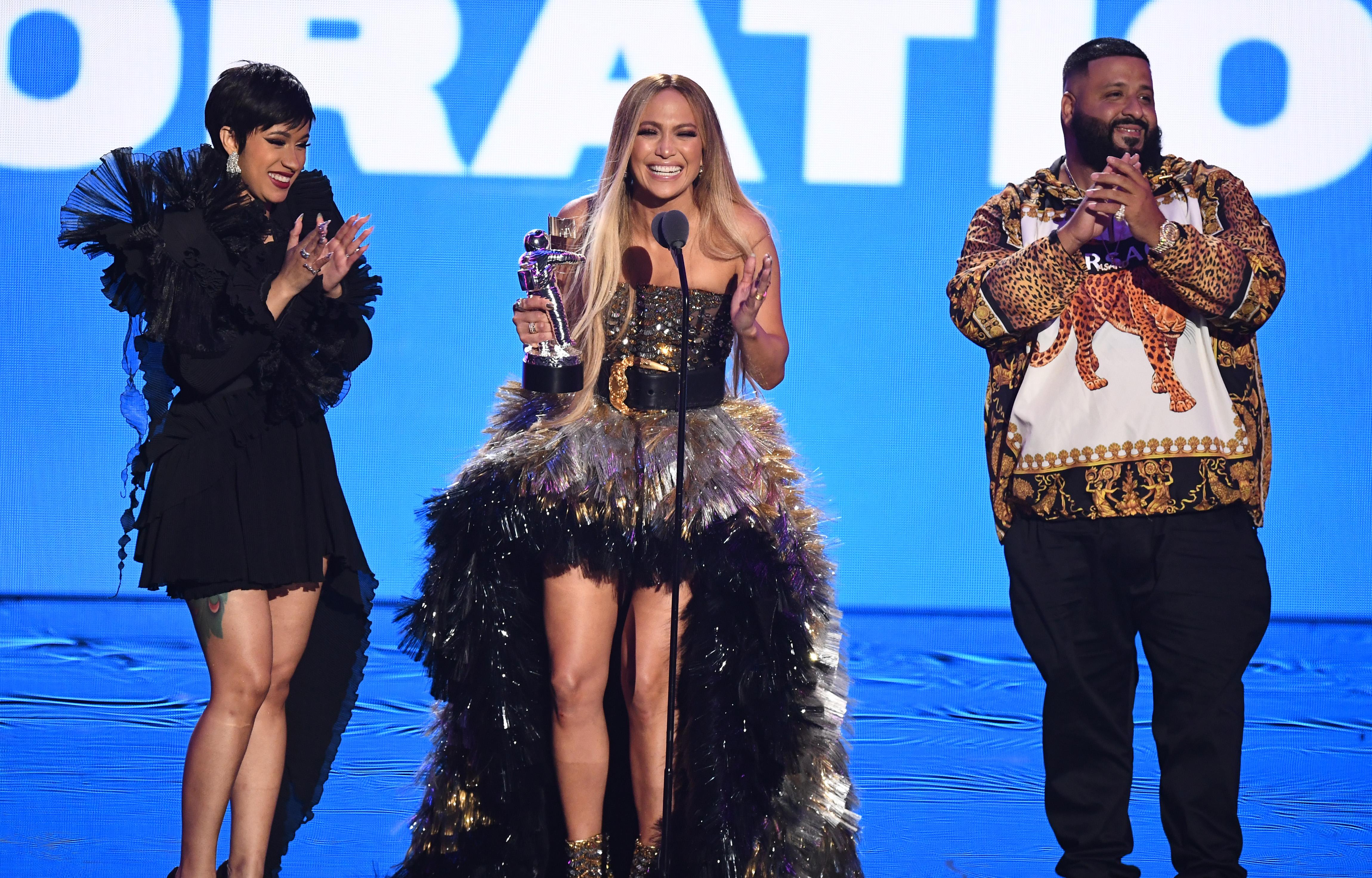 Cardi B, Jennifer Lopez anad DJ Khaled