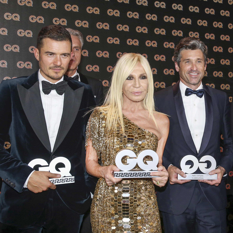 Orlando Bloom, Patrick Dempsey, Donatella Versace