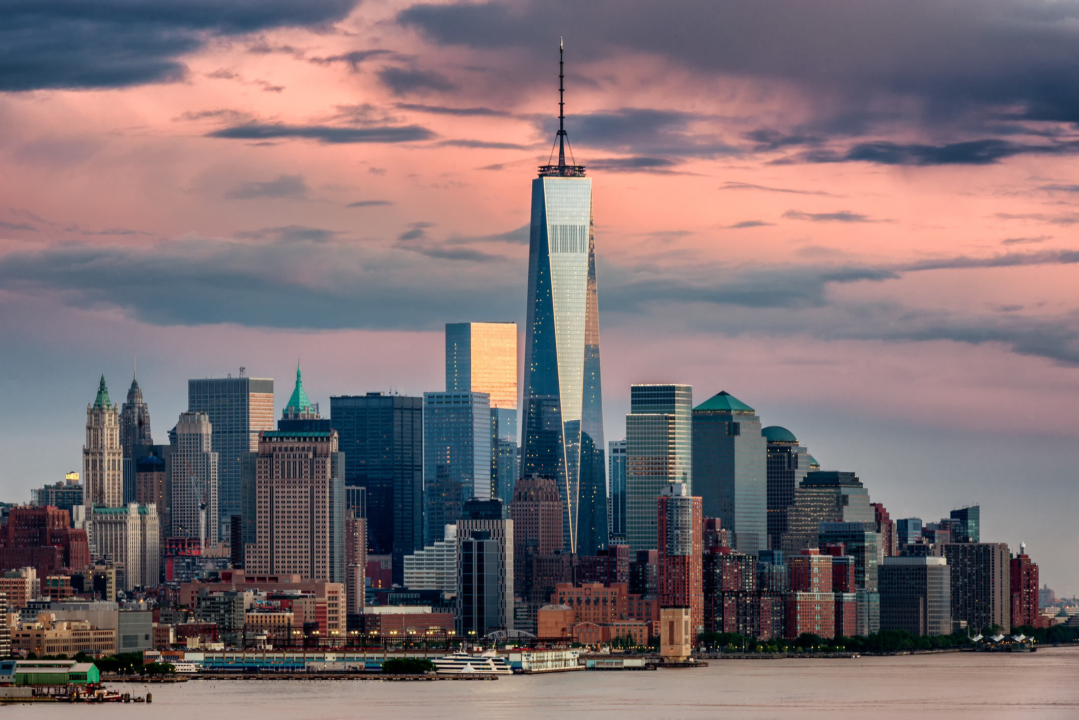 Lower Manhattan y el One World Trade Center.