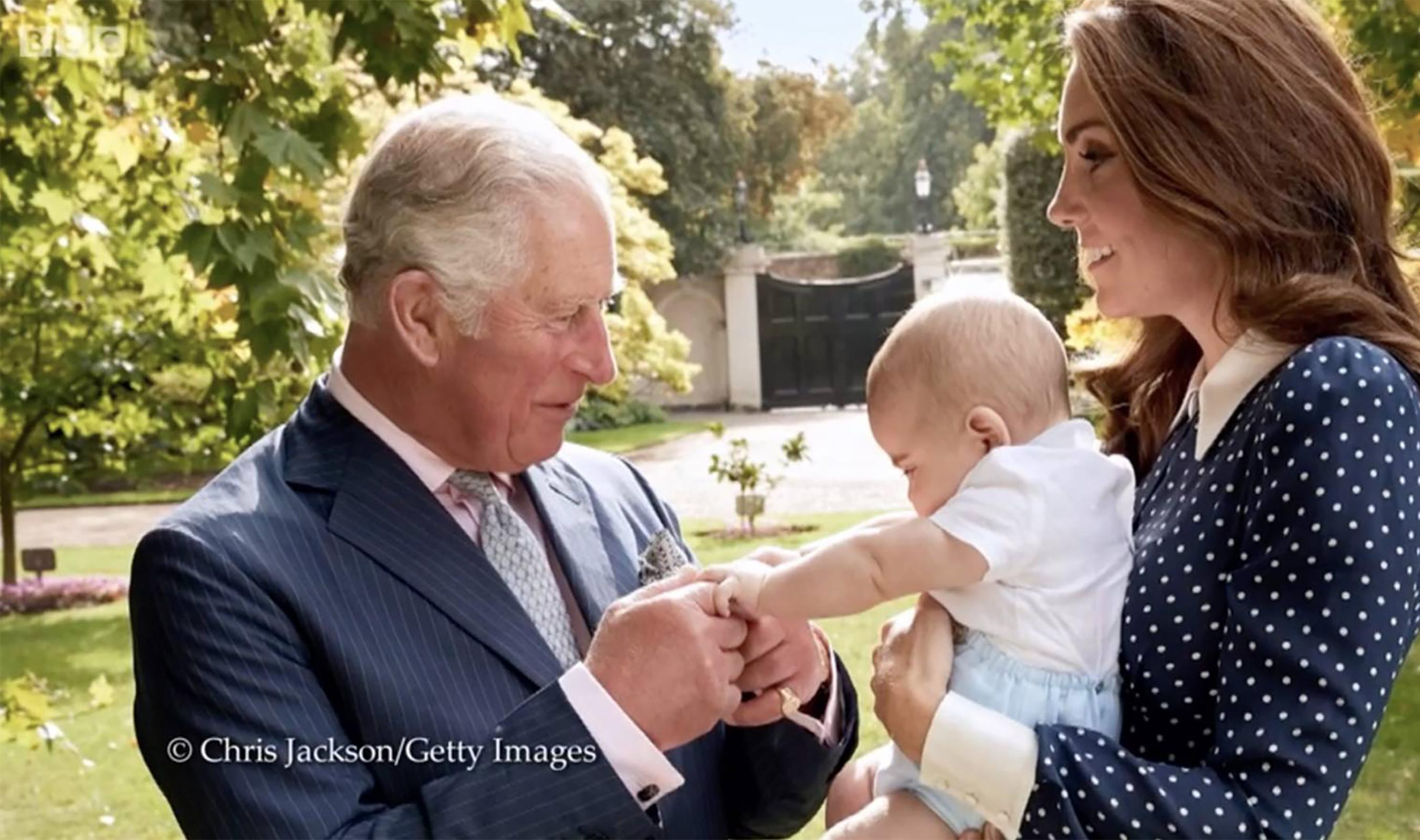 Prince Charles, Prince Louis and Kate Middleton