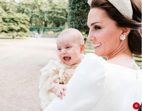 Prince Louis and Kate Middleton in July.