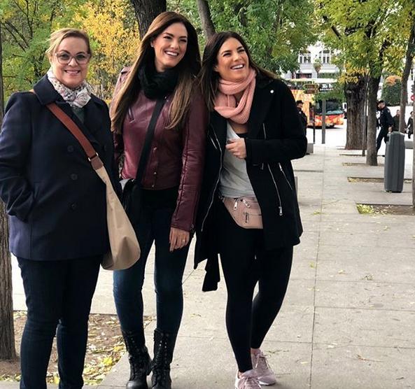 Gaby Espino viaje con su hija España Francia noviembre 2018