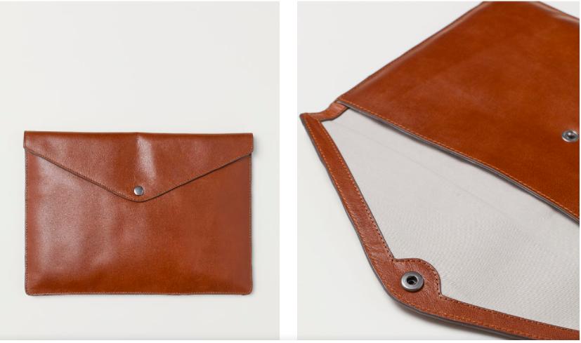 Leather Laptop Case / H&M