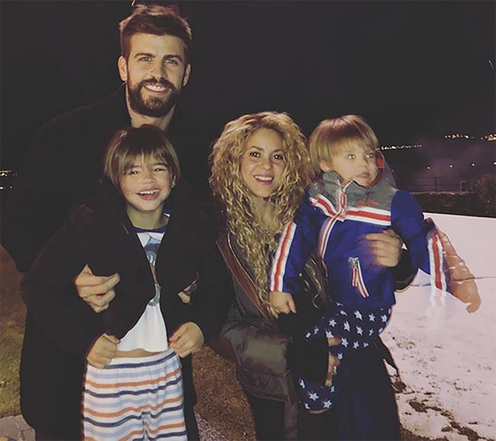 Shakira, Milan Piqué, Sasha Piqué, Gerard Piqué