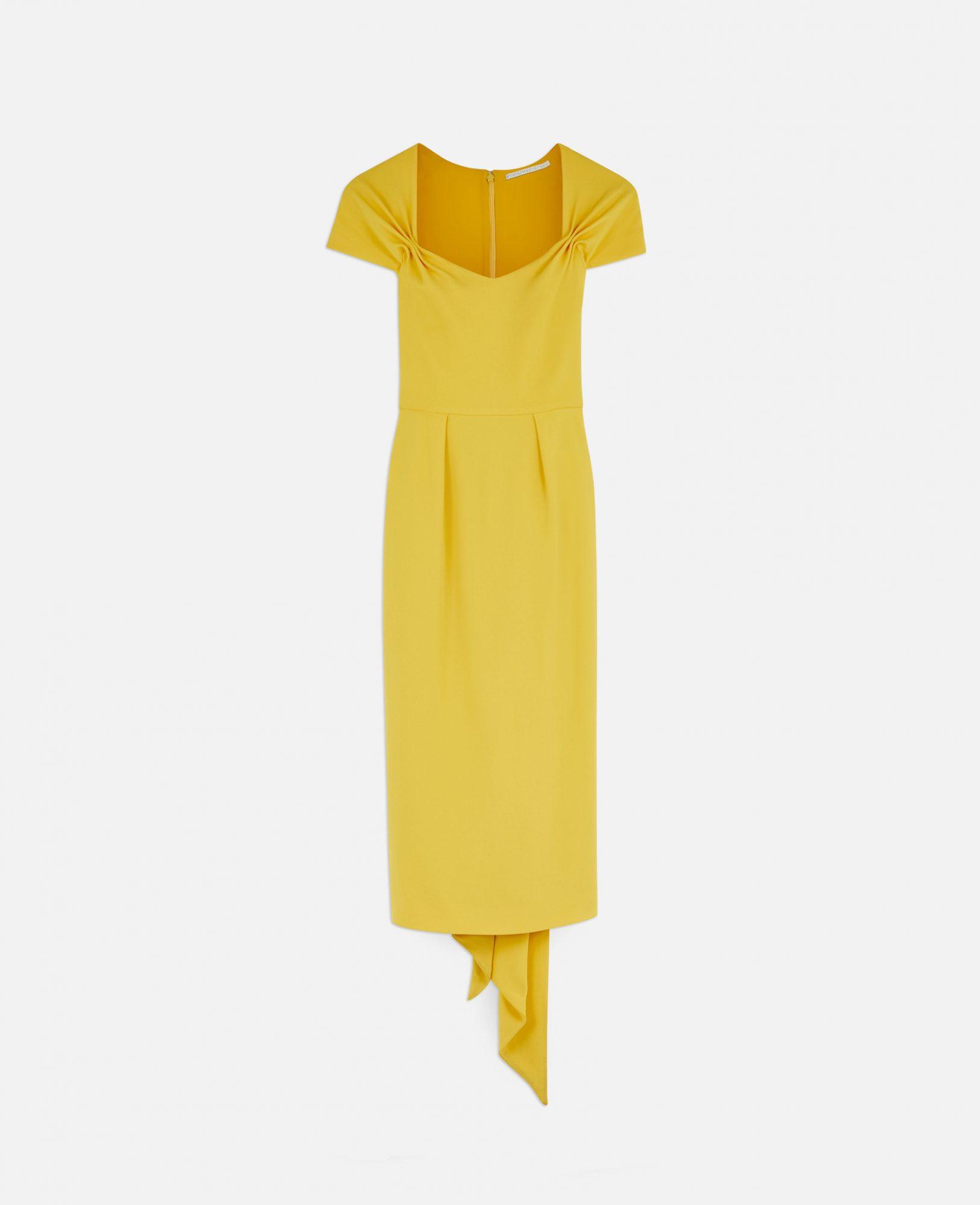vestido amarillo, Amal Clooney, vestido, boda real, Stella McCartney