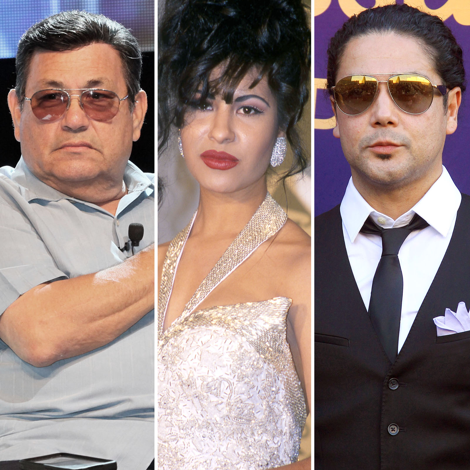 Abraham Quintanilla, Selena Quintanilla y Chris Peréz