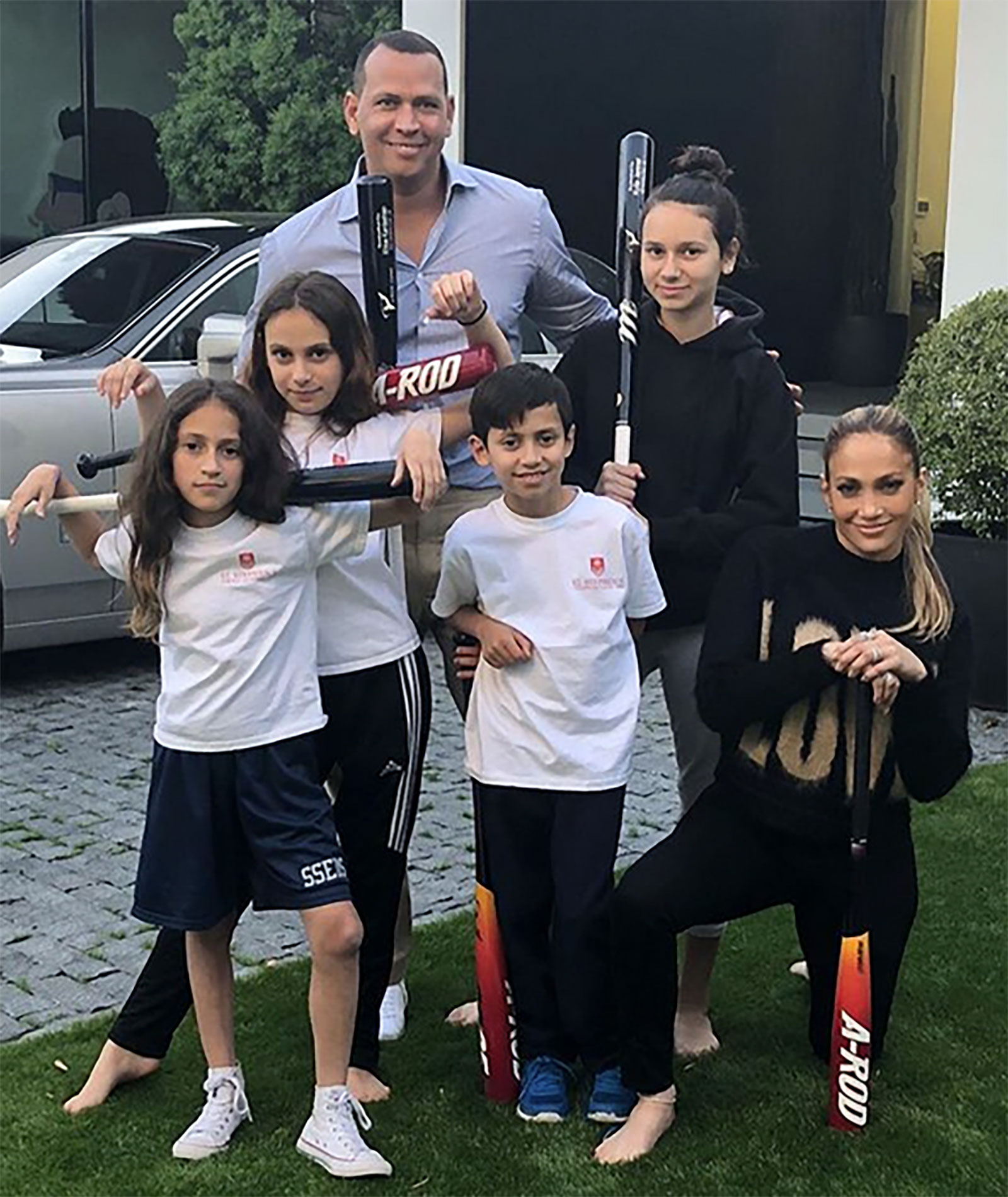 Jennifer López, Alex Rodriguez, hijos